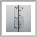 Strong stainless steel hinges allow the doors to open to the optimum position.