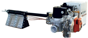 Direct fired gas burner for mod. World